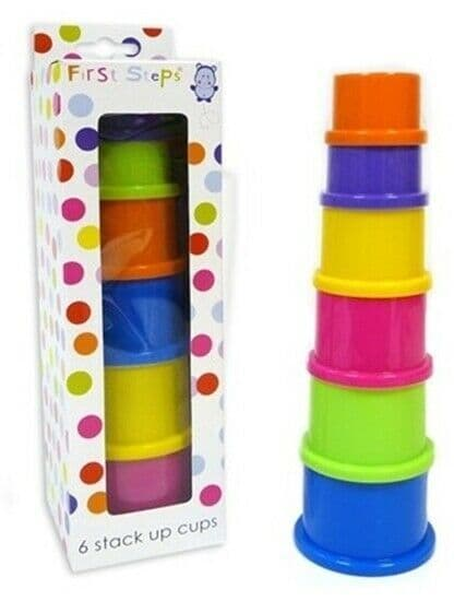Baby Pimpkin - 6 Piece Stacking Cups Baby Game Learning Toy